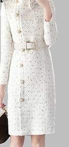 Elegant bow tie collar Long sleev chic Dresses - monach-butterfly