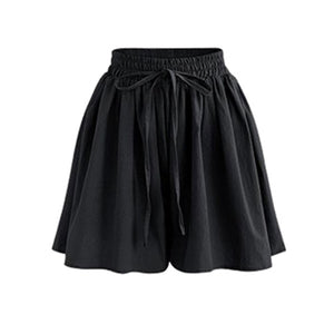 Women Shorts High Waist Loose Chiffon Shorts - monach-butterfly