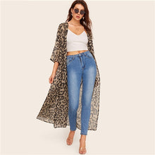 Load image into Gallery viewer, Leopard Kimono Cardigan Women  Kimonos - monach-butterfly
