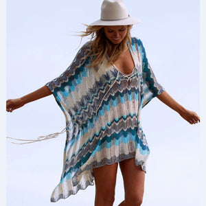 see-through Beach Cover Up Bikini Crochet Knitted bikini - monach-butterfly