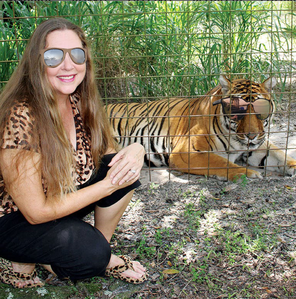 Carole pulling off some hot Triton Tymber Shades, while her Tiger rocks the Sirens