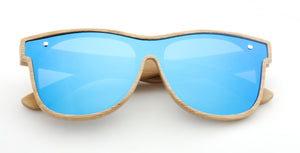 Open image in slideshow, Tymber HYDRA Bamboo Sunglasses with Polarized One-Piece Lens
