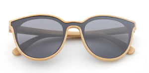 Tymber SIREN Bamboo Sunglasses with Polarized One-Piece Lens