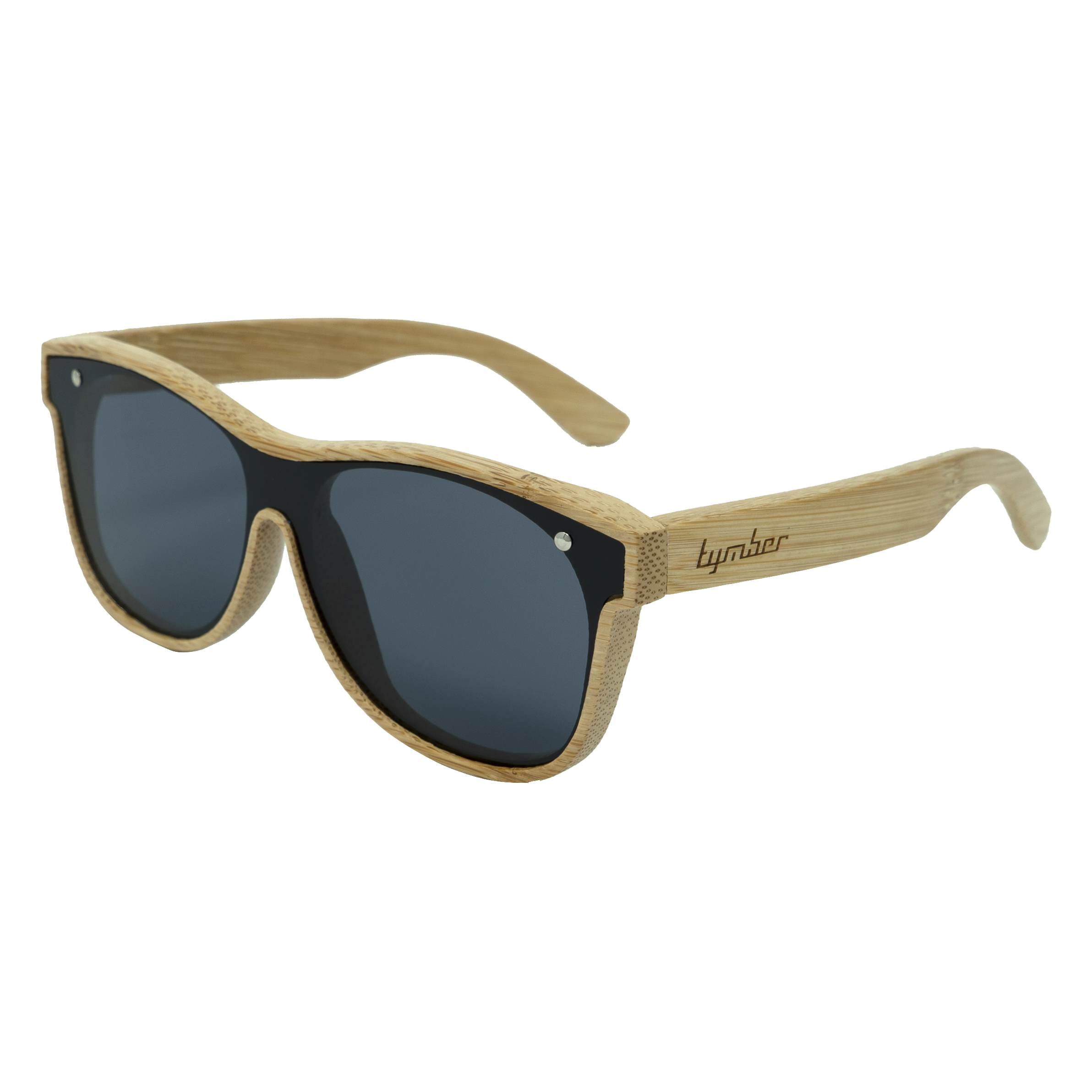 Tymber HYDRA Bamboo Sunglasses with Polarized One-Piece Lens