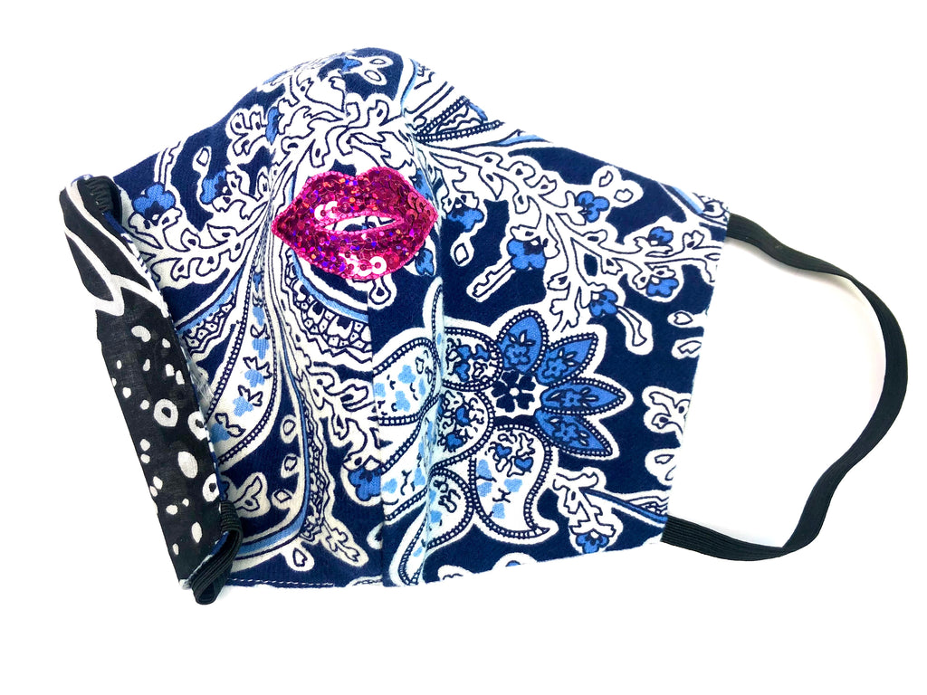 Paisley Sky Face Mask - Jacqui Stafford