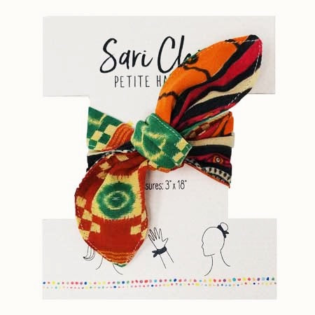 Sari Chic Petite Hair Tie Sustainable and Handmade (pattern/color vary)