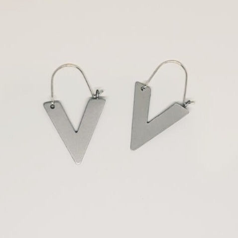 Sustainable Handmade Arrow Earrings in Silver or Gold