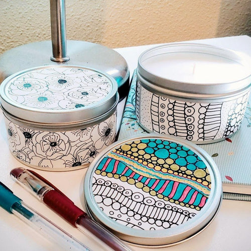 Doodle Candles Handmade by Refugee Women