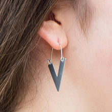 Load image into Gallery viewer, Sustainable Handmade Arrow Earrings in Silver or Gold