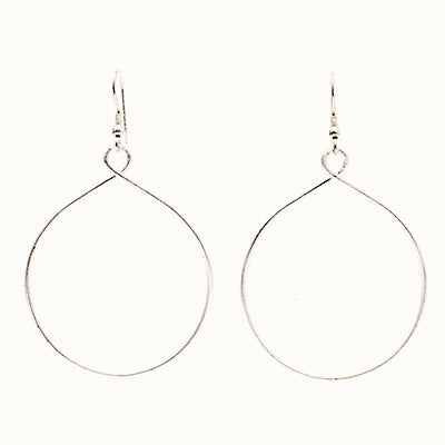 Sustainable Handmade Twisting Hoops in Gold or Silver