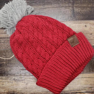 Baby Alpaca Cable Knit Beanie (Assorted Colors) From Peru