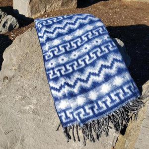 Brushed Alpaca Geometric Blanket (Assorted Colors) From Peru