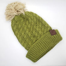 Load image into Gallery viewer, Baby Alpaca Cable Knit Beanie (Assorted Colors) From Peru