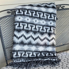 Load image into Gallery viewer, Brushed Alpaca Geometric Blanket (Assorted Colors) From Peru