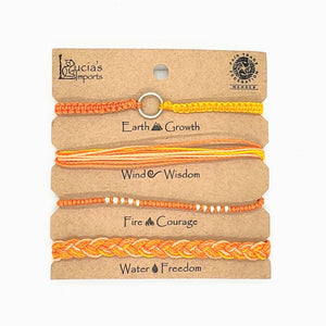 String Element Friendship Bracelets Set of 4