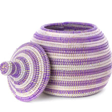 Load image into Gallery viewer, Handcrafted Lidded Gourd Basket (Assorted Color) from Africa
