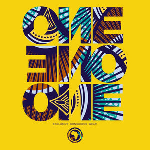 ONE ONE ONE - T-shirt Wax Jaune