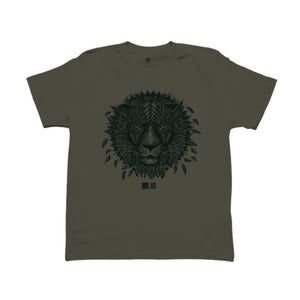 ONE ONE ONE - T-shirt Lion Kaki