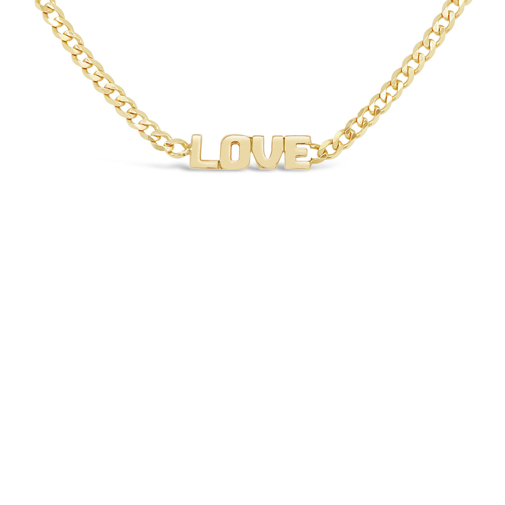 Cuban Link Love Necklace
