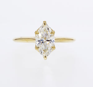 Marquise Diamond 6-prong Engagement Ring