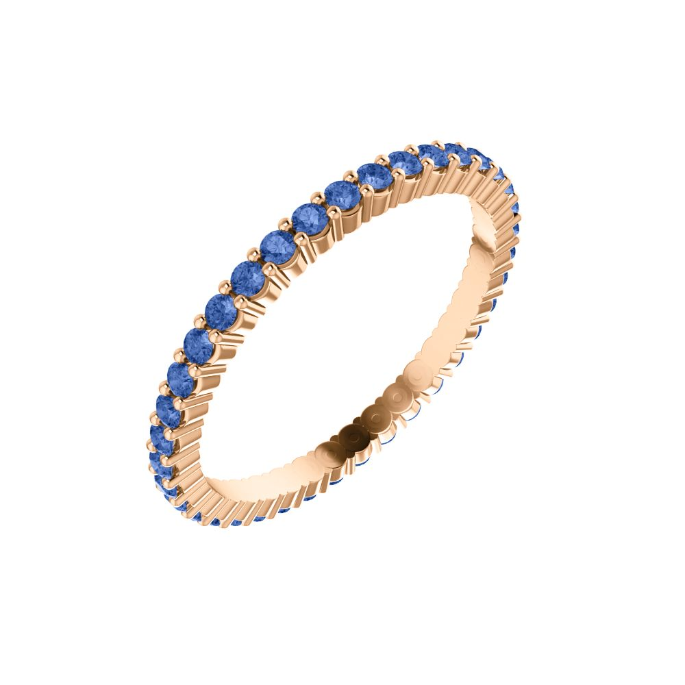 Blue Sapphire Eternity Band .01ct