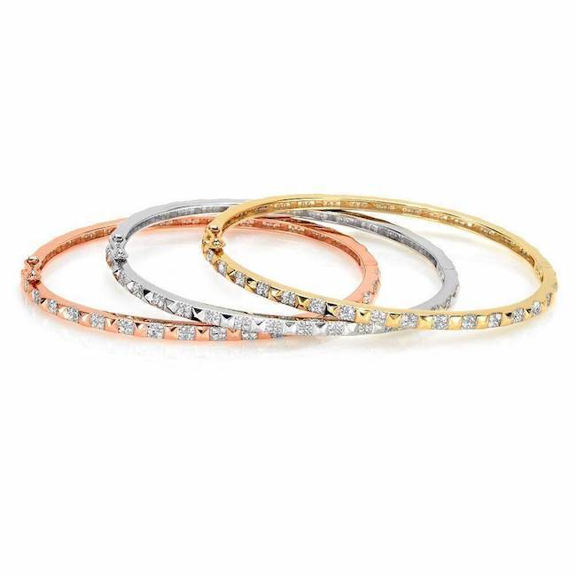 Pyramid Eternity Bangle