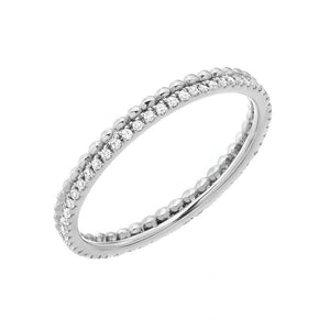 Diamond & Bead Eternity Band