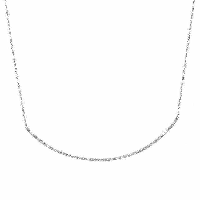 Extra Long Diamond Bar Necklace