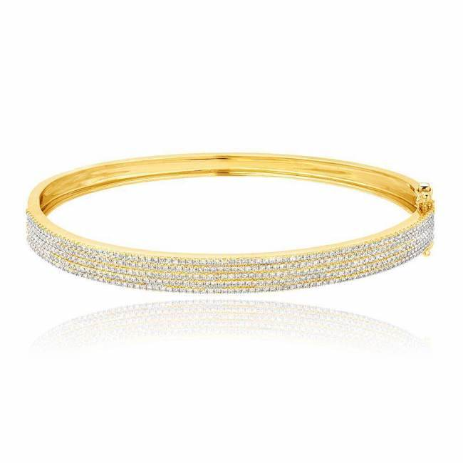 Five Row Diamond Bangle