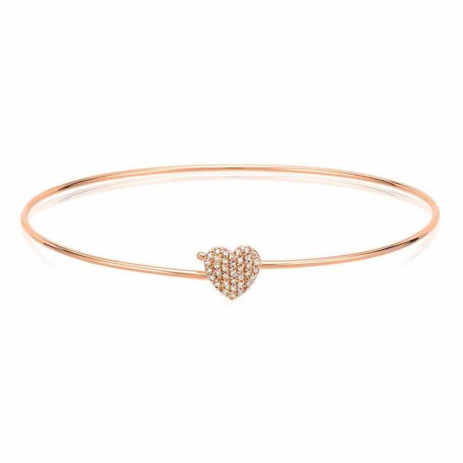 Heart Pave Hook Bangle