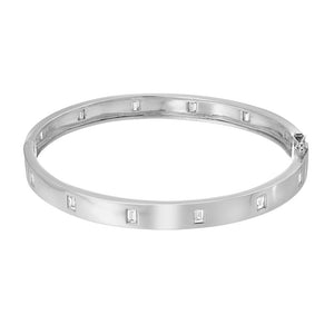 High Polish Baguette Bangle