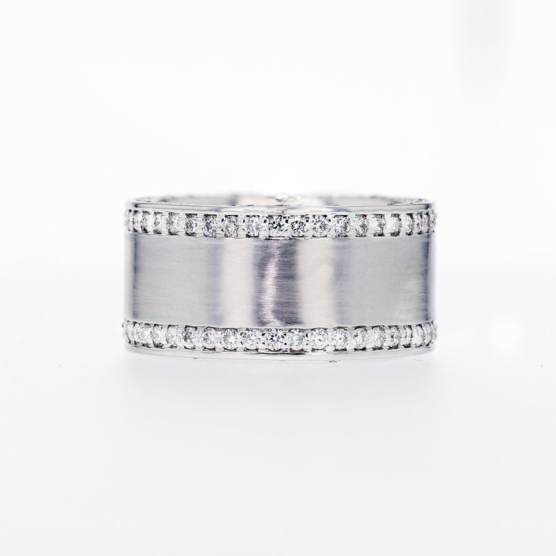 Double Sided Diamond Band