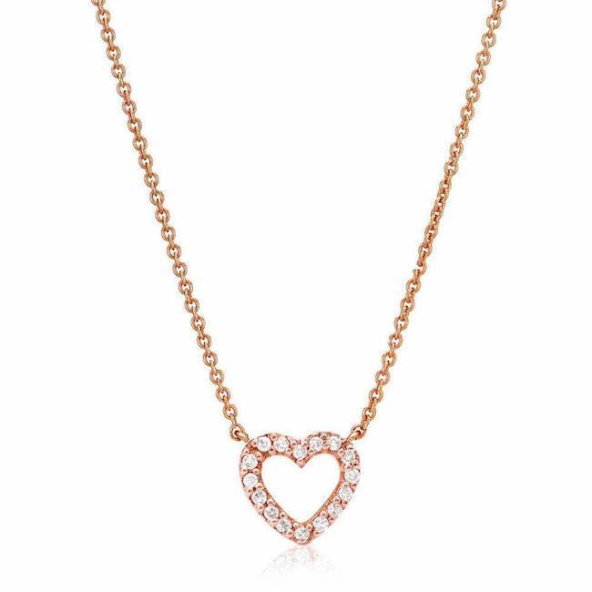 Mini Open Heart Necklace