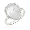 Organic Shape Moonstone Diamond Ring