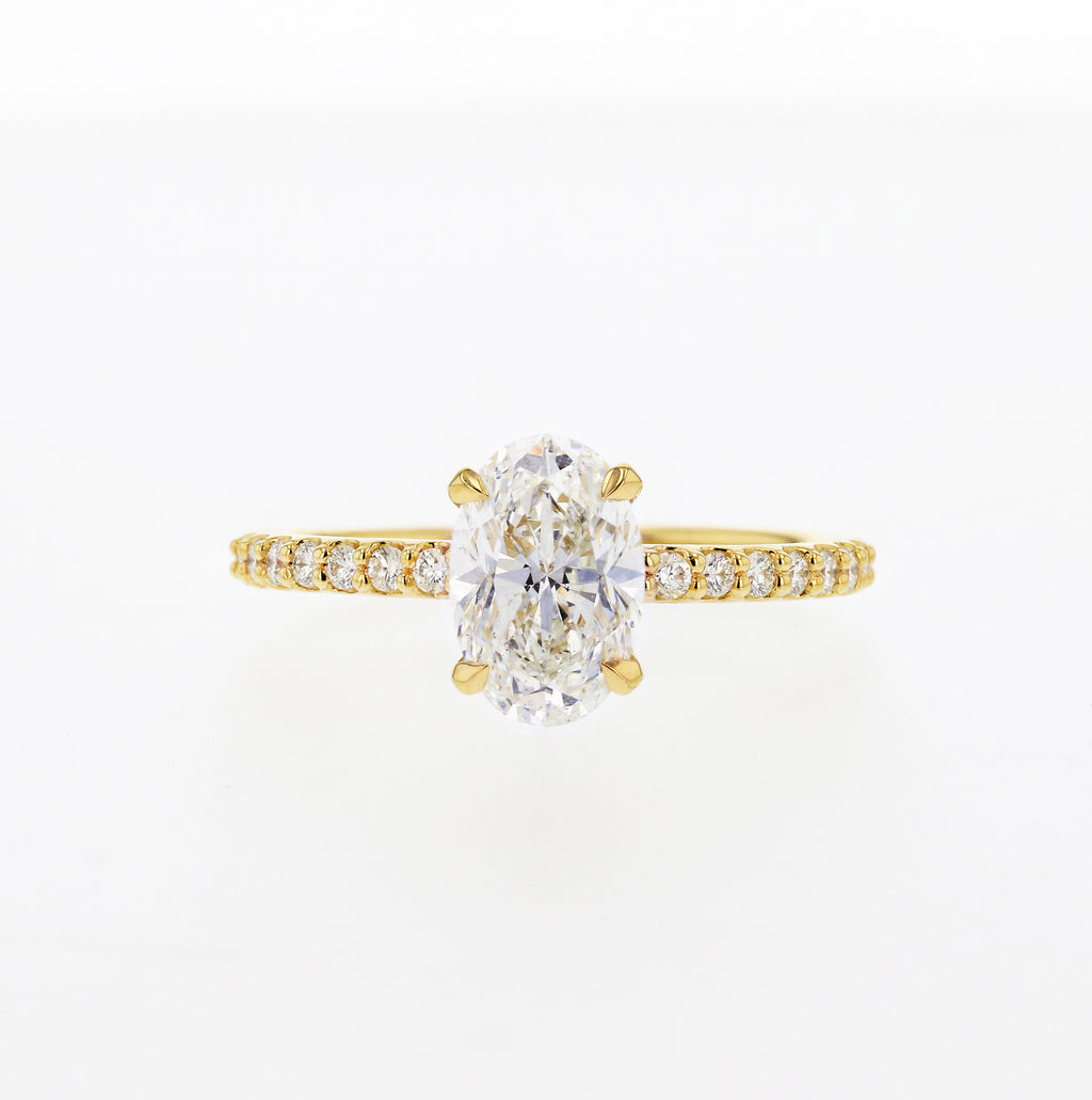 Oval Diamond Engagement Ring in Yellow