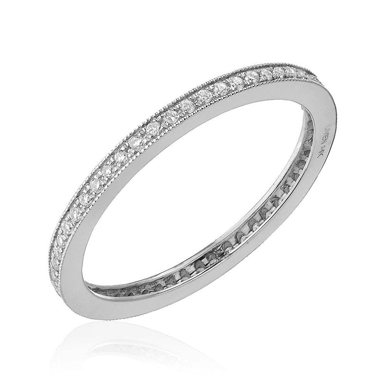 Pave Eternity Band with Milgrain Border