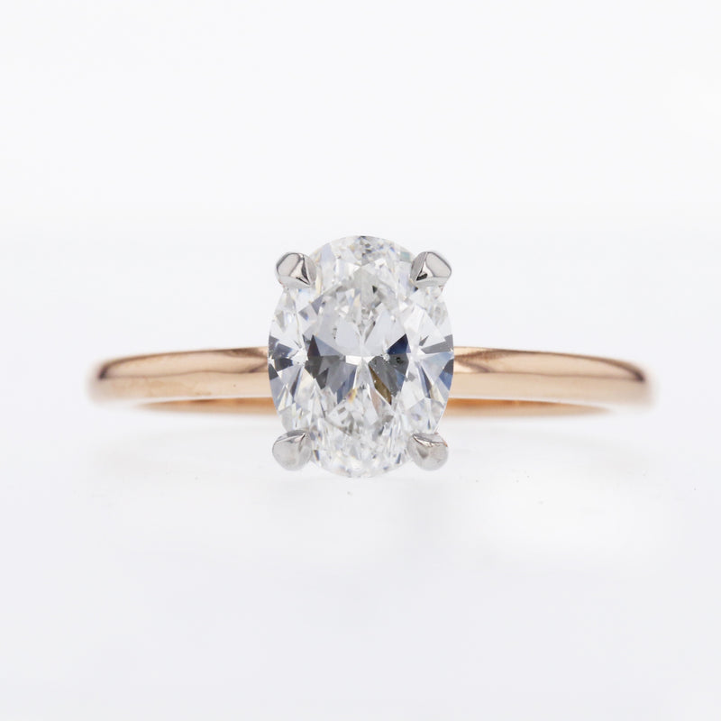 Two-Tone Rose Gold Oval Engagement Ring
