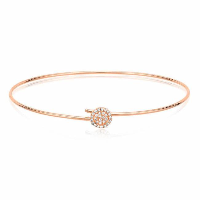 Round Pave Hook Bangle