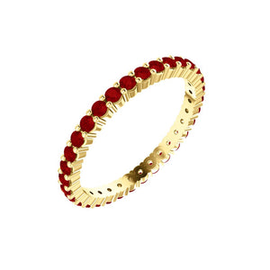 Ruby Eternity Band .025ct