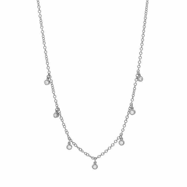 Seven Diamond Dangle Necklace