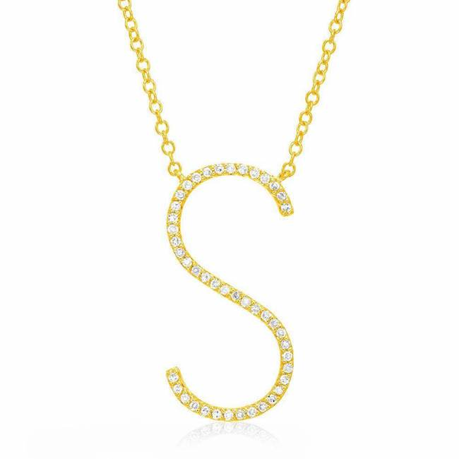 Skinny Initial Necklace