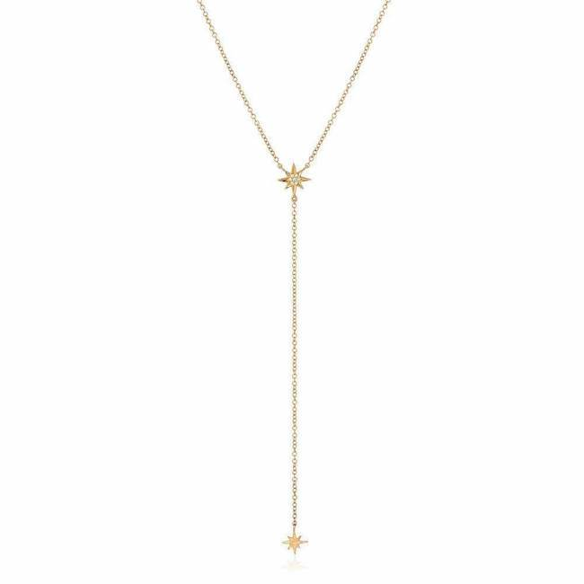 Starburst Mini Lariat Necklace