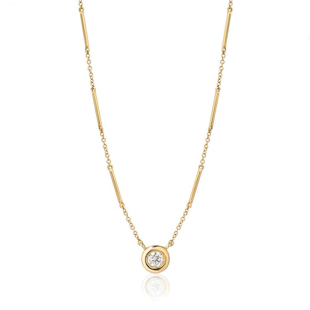 Unity Chain Necklace with Single Diamond
