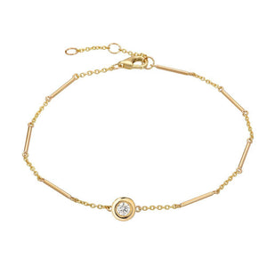 Unity Chain Bracelet with Single Diamond