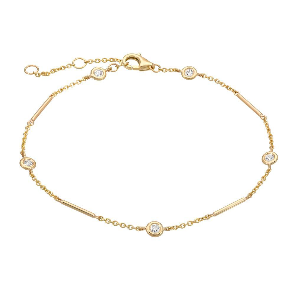 Unity Chain Bracelet with Station Diamonds