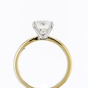 Classic Two-Tone Solitaire Engagement Ring
