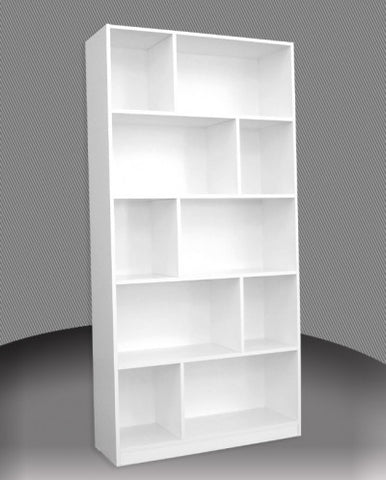 Staggered Bookcase 6 Ft in Melamine