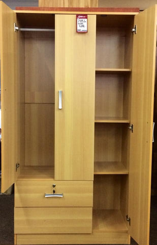 Deluxe Storage Wardrobe in Melamine