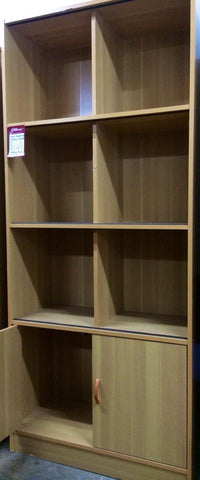 Glass Display Cabinet with Cupboards in Melamine