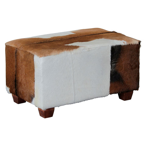 Aztec Mexica Goat Skin Bench Medium